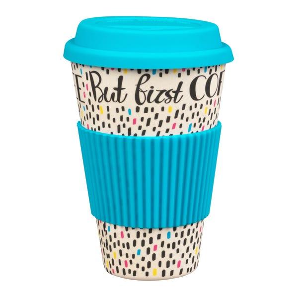 But First Coffee Travel Mug MultiColoured
