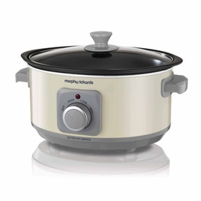 Morphy Richards Sear And Stew Cream Slow Cooker 3.5L