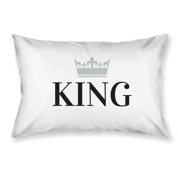 King with Crown Housewife Pillowcase White