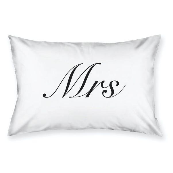 Mrs Housewife Pillowcase White
