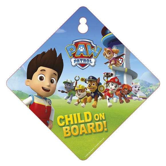Paw Patrol Baby on Board Sign MultiColoured