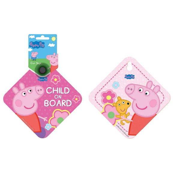 Peppa Pig Baby on Board Sign Pink