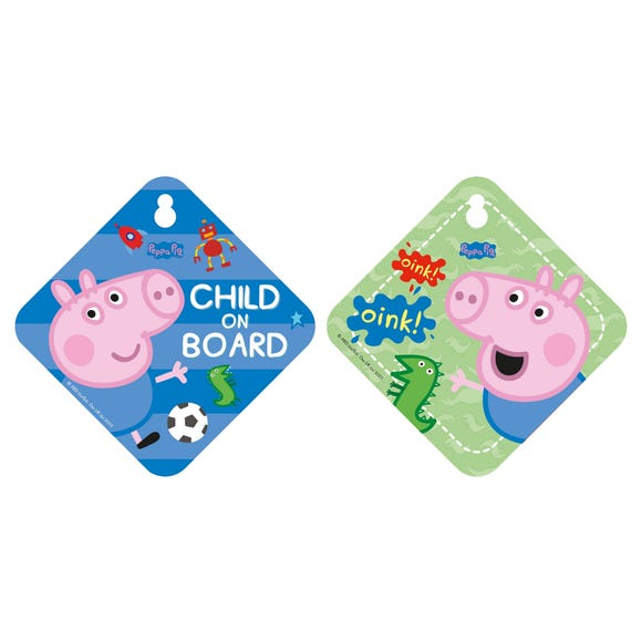 George Pig Baby on Board Sign Blue