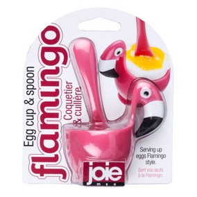 Joie Flamingo Egg Cup & Spoon