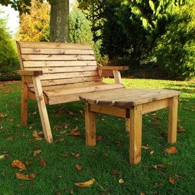 Charles Taylor 2 Seater Wooden Deluxe Bench Set