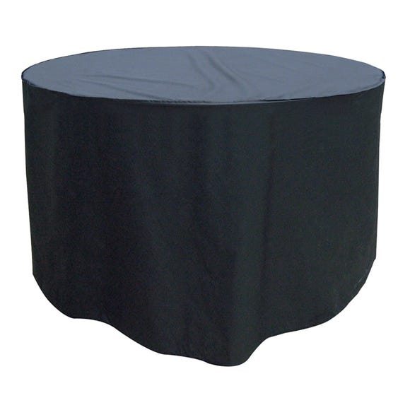 Garland 4 and 6 Seater Round Black Furniture Set Cover Black