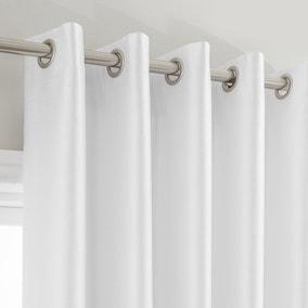 Montana White Eyelet Curtains Dunelm