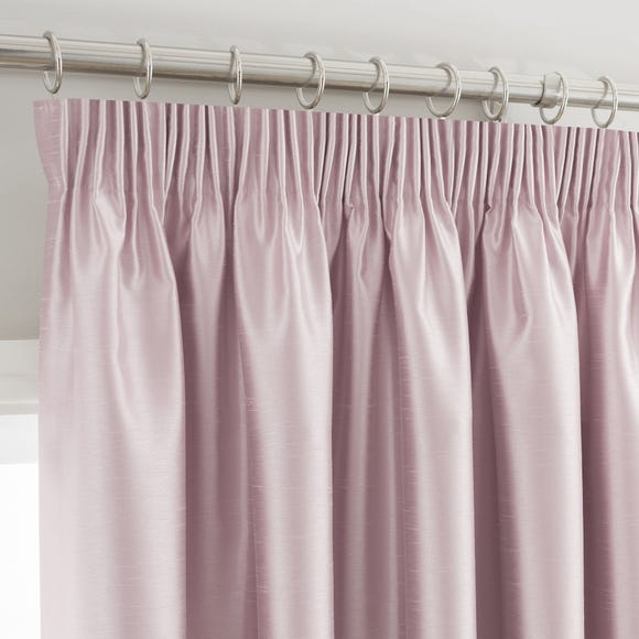 Montana Blush Pencil Pleat Curtains  undefined