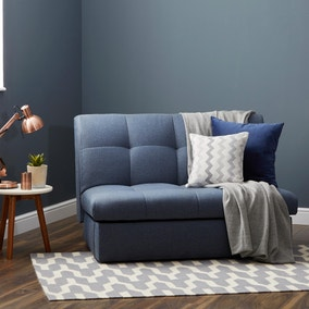 Navy Rowan Single Sofa Bed