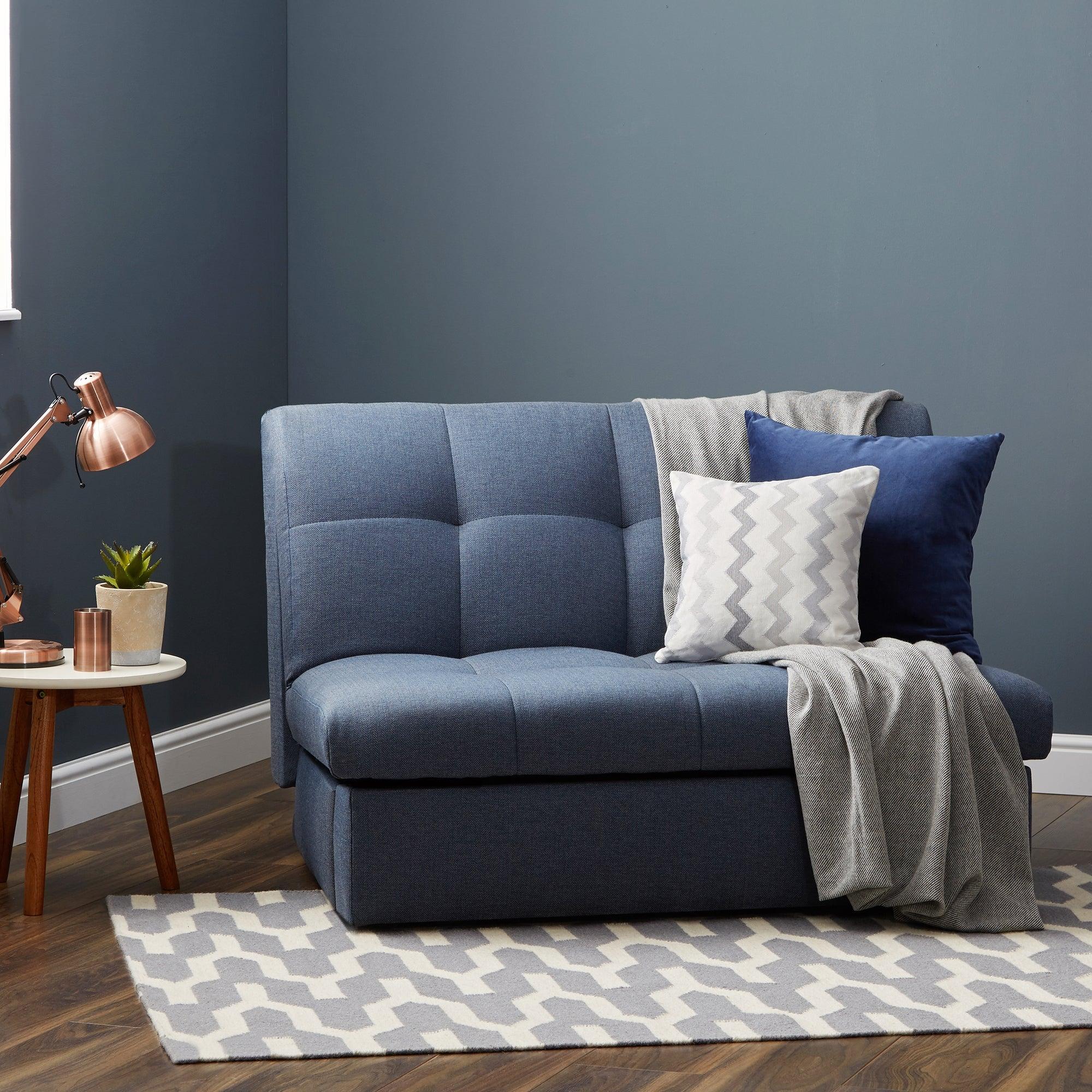 Navy Rowan Small Double Sofa Bed Navy