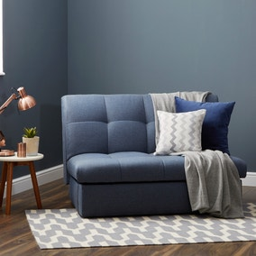 Navy Rowan Small Double Sofa Bed