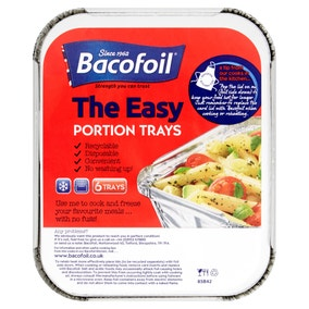 6 Bacofoil Easy Portion Recyclable Foil Trays