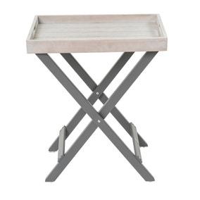 Florenity Grigio Grey Folding Butler Tray