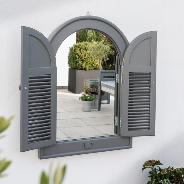 Florenity Grigio Grey Outdoor Window Mirror Grey
