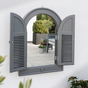 Florenity Grigio Grey Outdoor Window Mirror