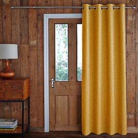 Jennings Ochre Door Curtain