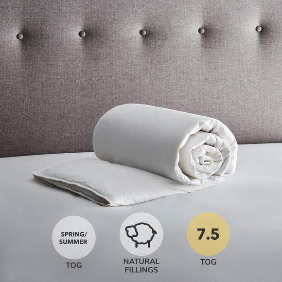 Fogarty White Duck Feather and Down 7.5 Tog Duvet White undefined