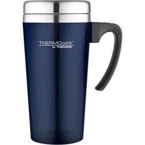 ThermoCafe 420ml Blue Translucent Travel Mug