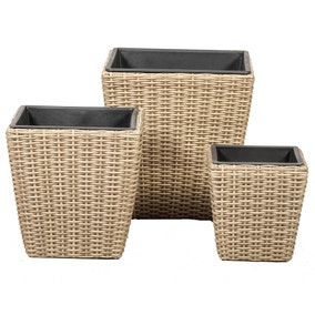 Set of 3 Genoa Square Planters