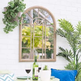 Rounded Arch Window Style Outdoor Mirror