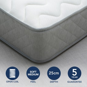 Fogarty Soft Medium Bamboo Anti Allergy Open Coil Mattress