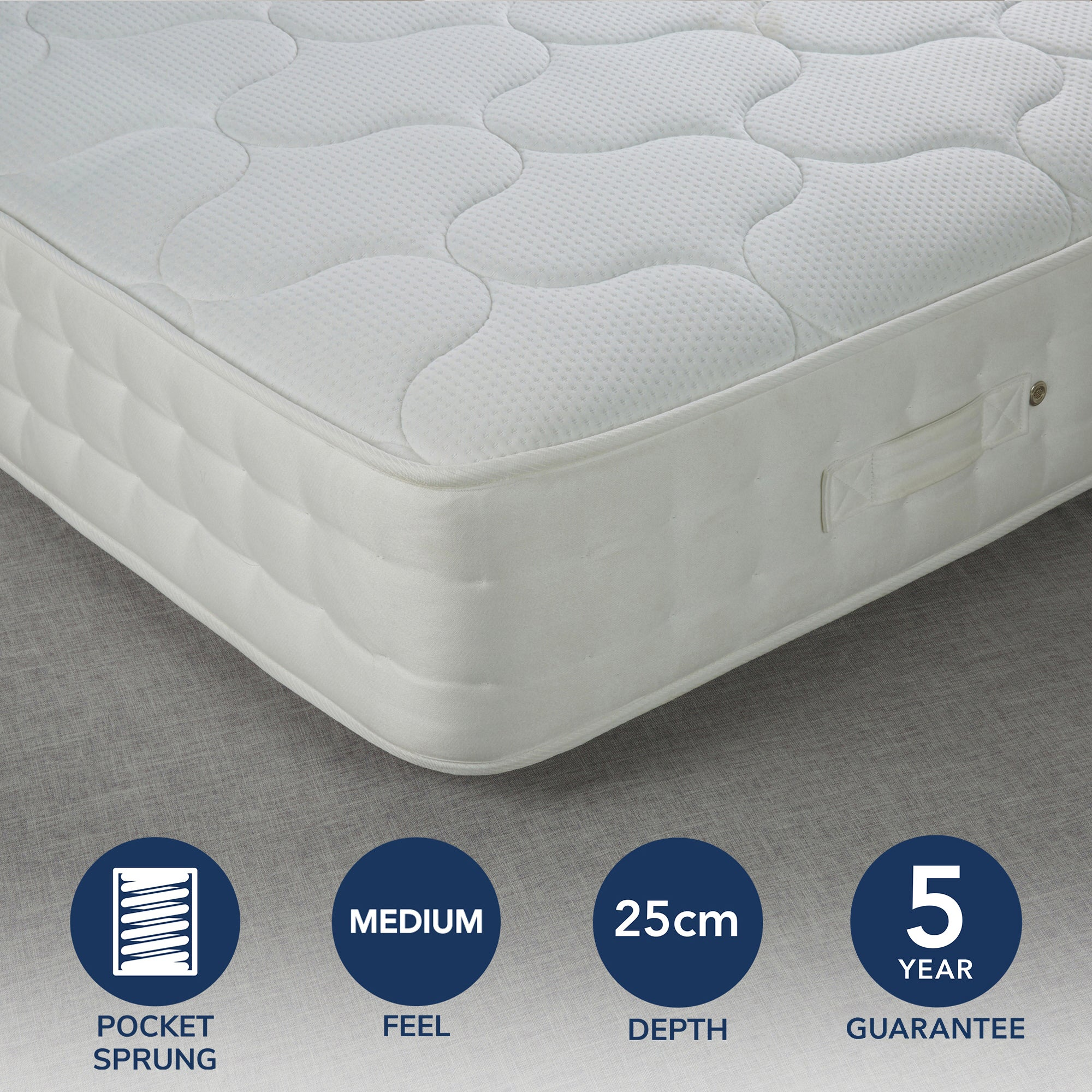 Fogarty Fogarty Traditional 1000 Pocket Sprung Mattress White Double 4ft 6