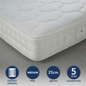 Fogarty Medium Traditional 1000 Pocket Sprung Mattress