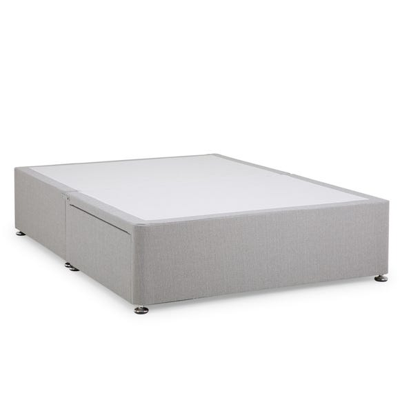 Dunelm Classic Linen Divan Base - Light Grey  undefined