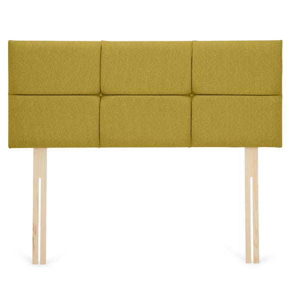 Dunelm Linen Square Headboard Olive (Green) undefined