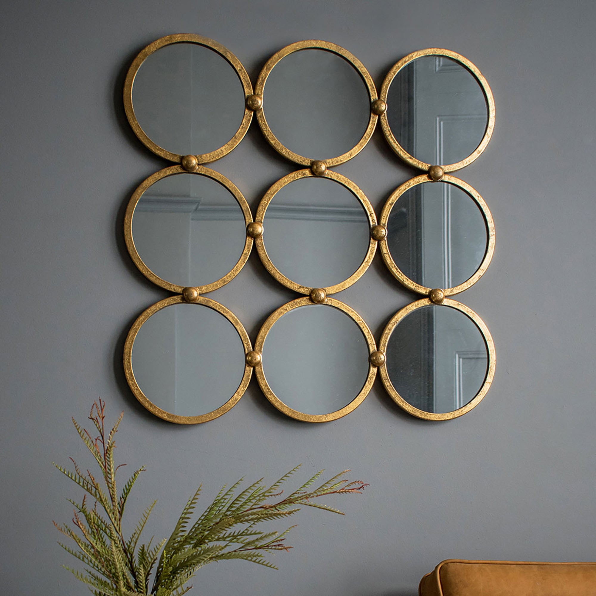 Click to view product details and reviews for Bradbury Antique Gold Leaf Wall Mirror Gold.
