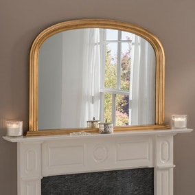 Yearn Contemporary Overmantle Mirror 112x77cm Gold