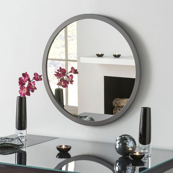 Yearn Classic Circle Dark Grey Mirror Grey undefined