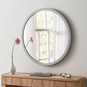 Yearn Classic Circle Light Grey Mirror