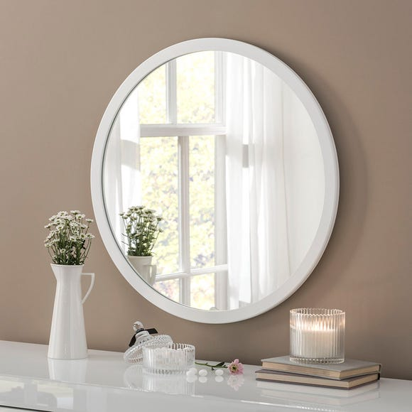 Yearn Classic Circle White Mirror White undefined