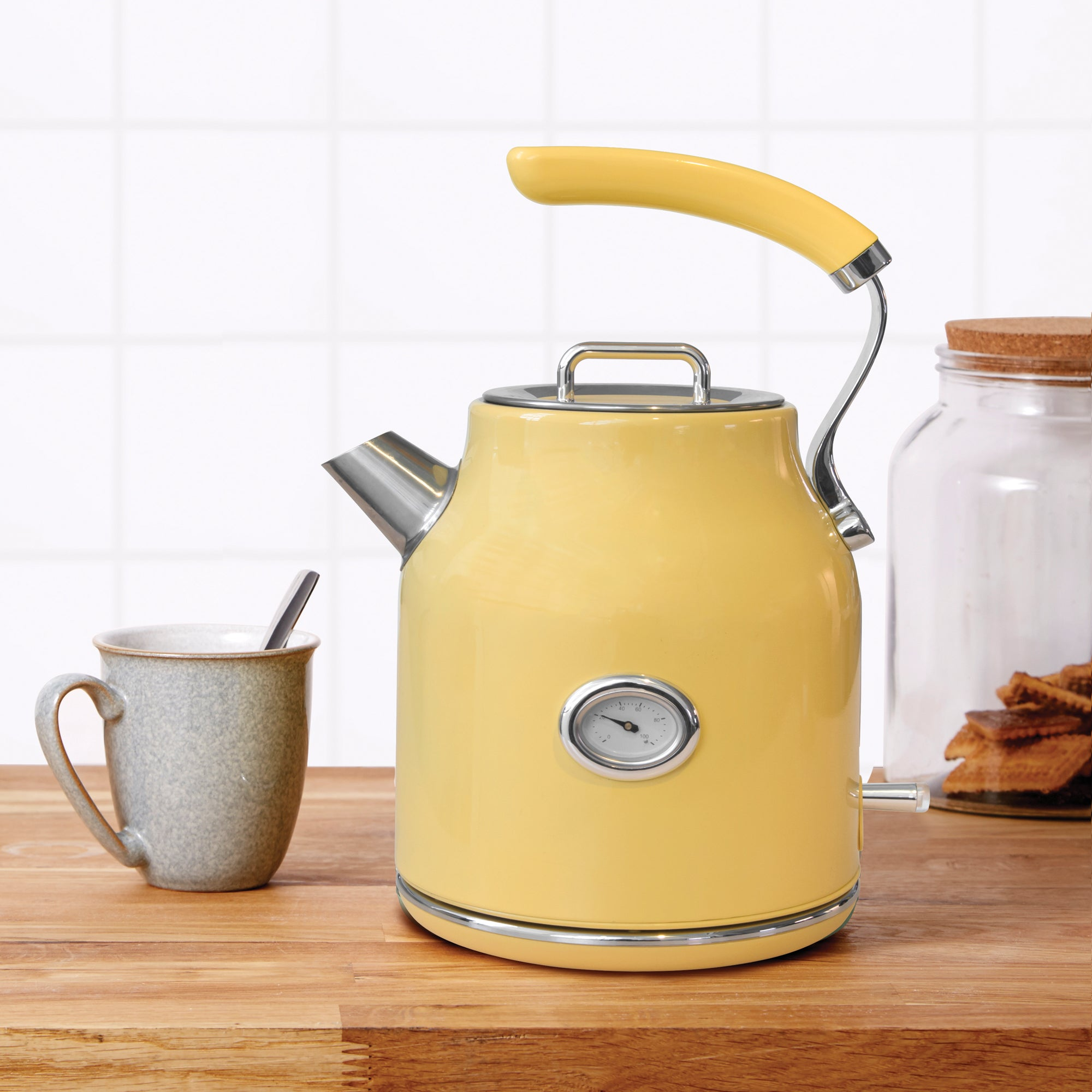 Click to view product details and reviews for Retro 17l 3kw Yellow Jug Kettle Yellow.