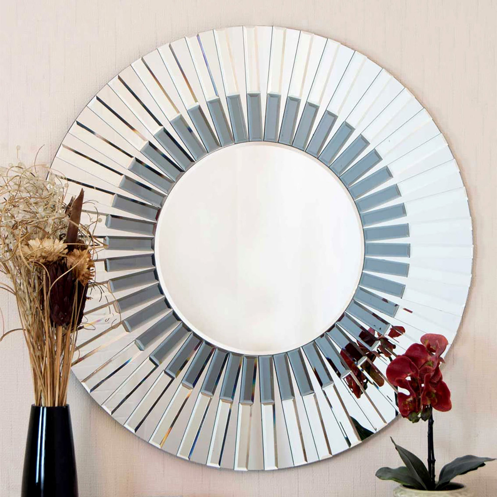 Click to view product details and reviews for Surrey Blue Wall Mirror Clear Blue.