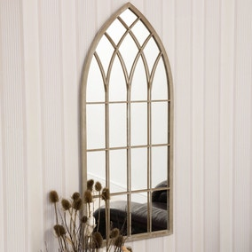 Flitwick Cream Garden Window Mirror