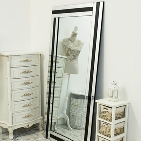 Westbury Black Leaner Mirror