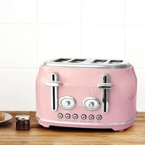 Retro Pink 4 Slice Toaster