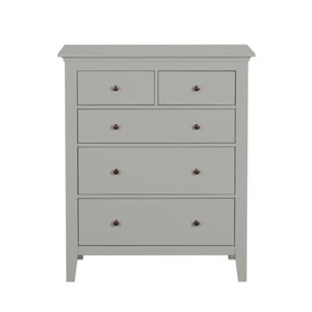 Lynton Grey 5 Drawer Chest