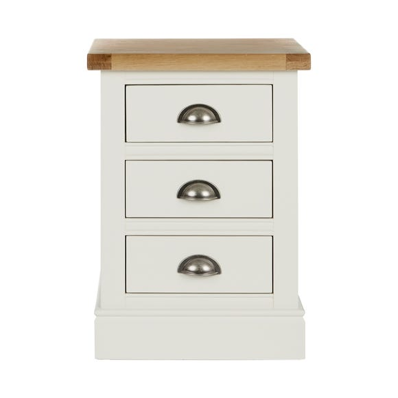 Compton Ivory 3 Drawer Bedside Table Ivory