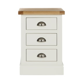 Compton Ivory 3 Drawer Bedside Table
