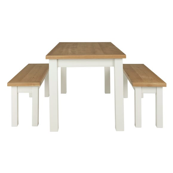 Compton Ivory Dining Table and Bench Set Ivory