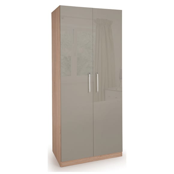Kensington 2 Door Wardrobe Grey