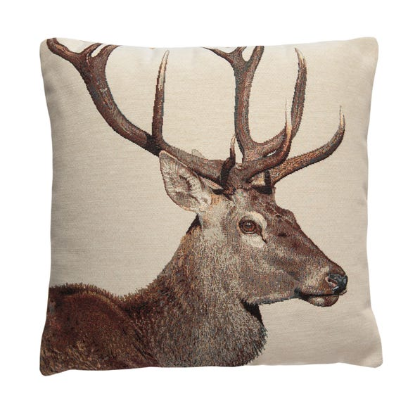 Tapestry Stag Cushion Natural