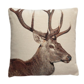 Tapestry Stag Cushion