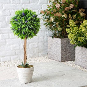 Artificial Potted Lavender Tree