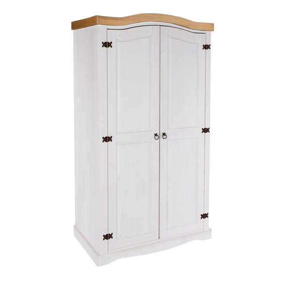 Core Corona 2 Door White Wardrobe