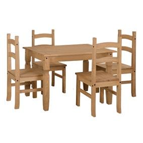 Corona Small Rectangular Table Dining Set