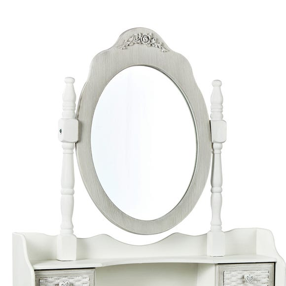 Brittany Dressing Table Mirror White